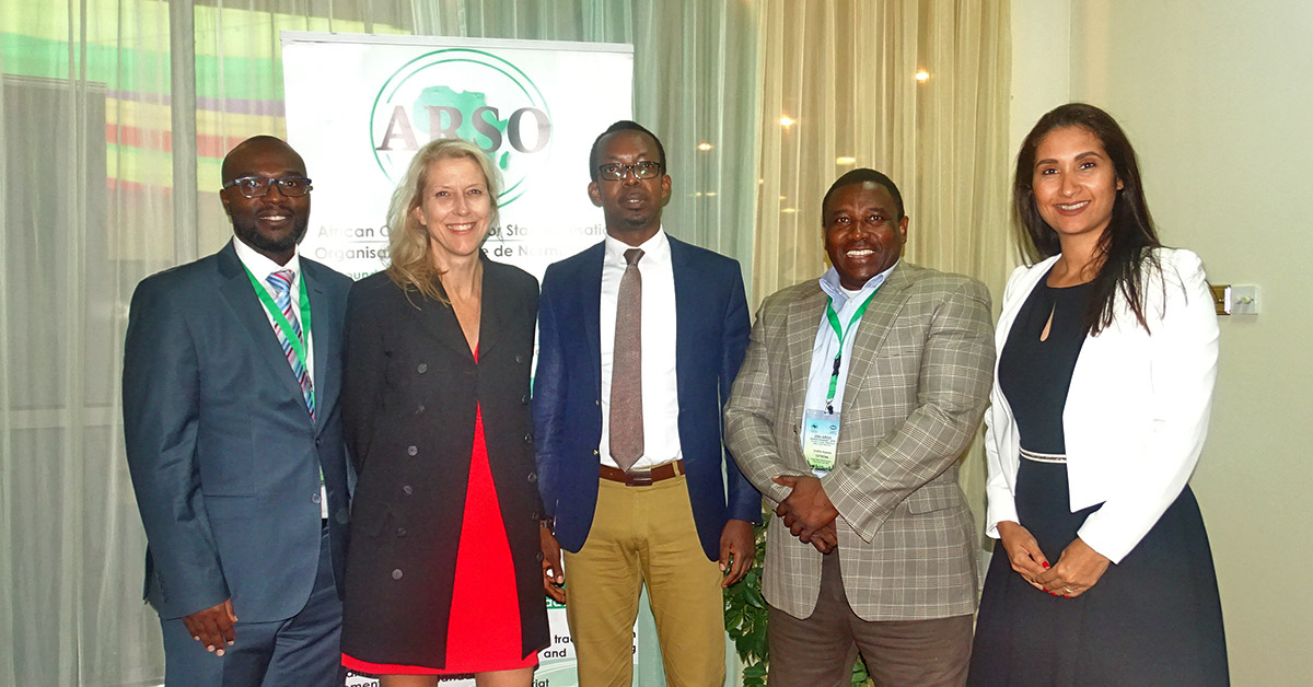 Cotecna's team with Dr. Homogene Nsengimana, Secretary General of ARSO