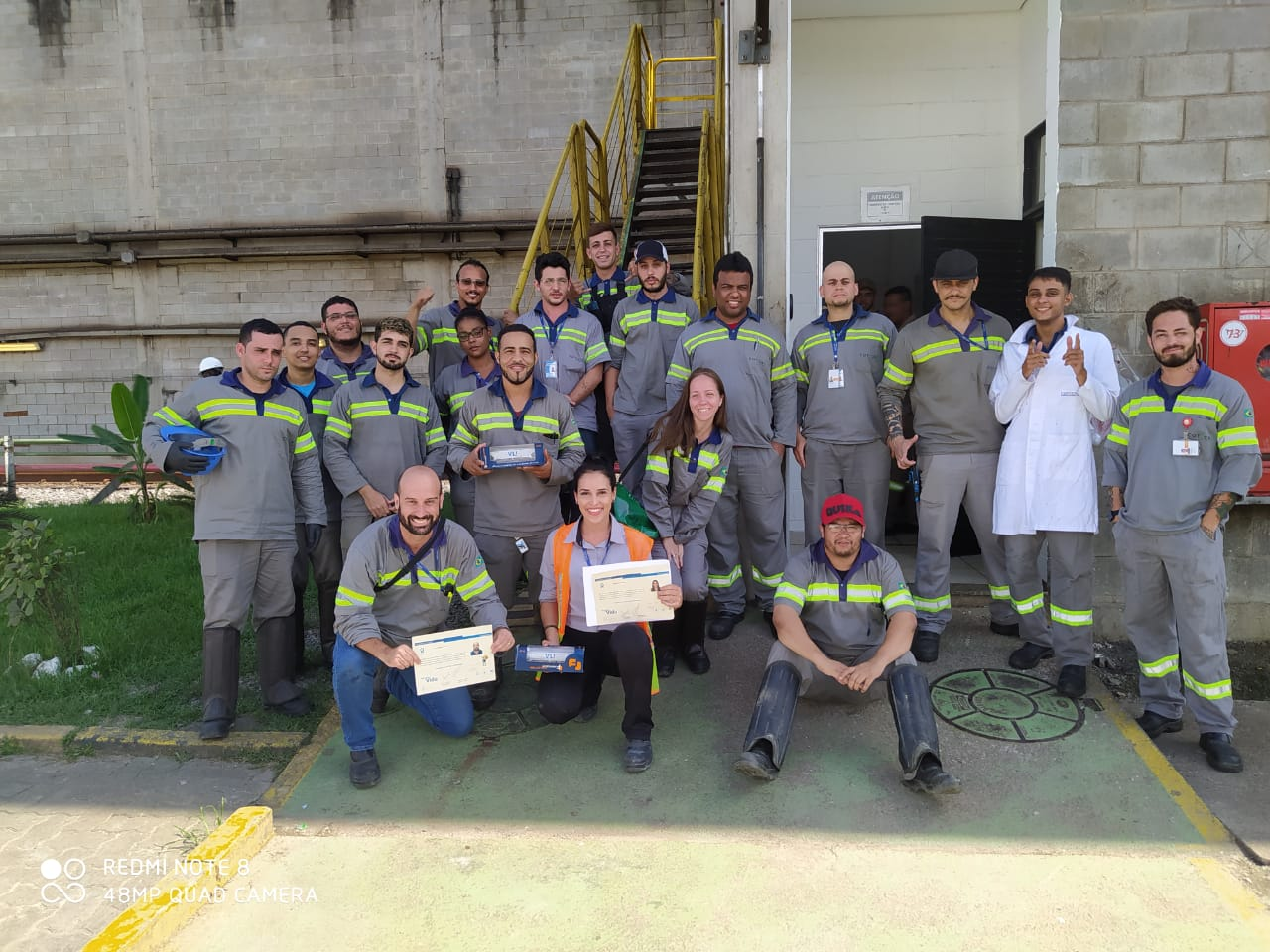 Cotecna Brazil team receiving TIPLAM Award
